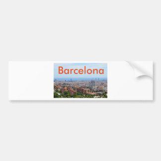 Aerial view of Barcelona, Spain Bumper Sticker