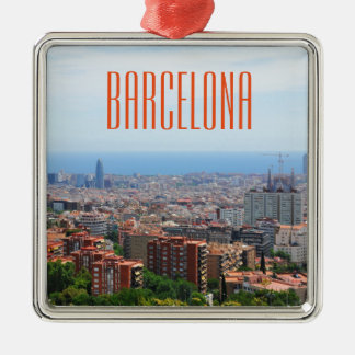 Aerial view of Barcelona, Spain Christmas Ornament