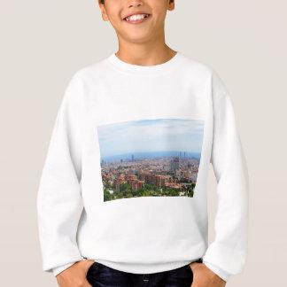 Aerial view of Barcelona, Spain Sweatshirt