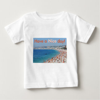 Aerial view of beach in Nice, France Baby T-Shirt