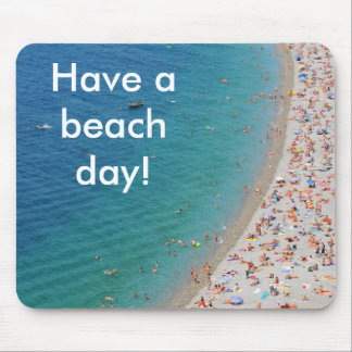 Aerial view of beach in Nice, France Mouse Mat