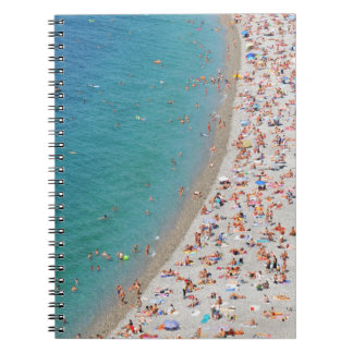 Aerial view of beach in Nice, France Notebooks