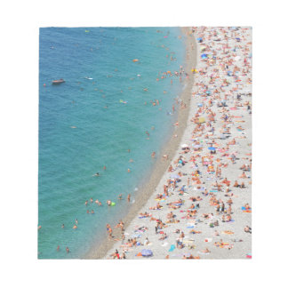 Aerial view of beach in Nice, France Notepad