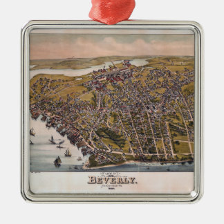 Aerial View of Beverly, Massachusetts (1886) Christmas Ornament