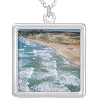 Aerial view of Black Sea coast of Istanbul, Silver Plated Necklace