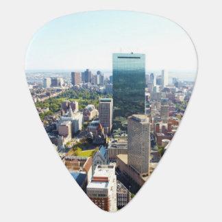 Aerial view of Boston 2 Guitar Pick
