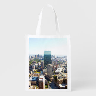 Aerial view of Boston 2 Reusable Grocery Bag