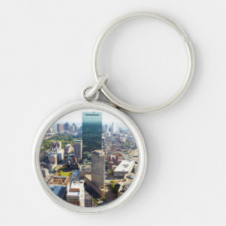 Aerial view of Boston 2 Silver-Colored Round Key Ring