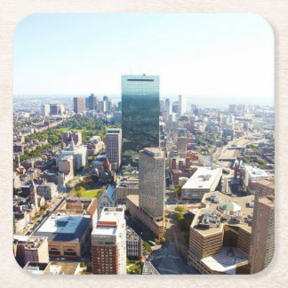 Aerial view of Boston 2 Square Paper Coaster