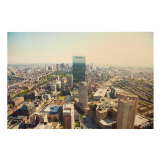 Aerial view of Boston 2 Wood Wall Decor
