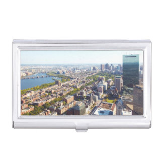 Aerial view of Boston Business Card Holder