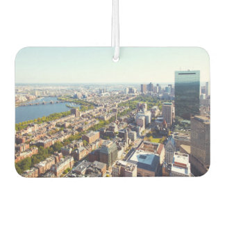 Aerial view of Boston Car Air Freshener
