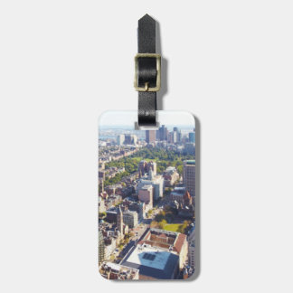 Aerial view of Boston Luggage Tag