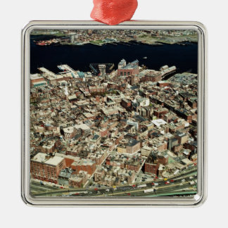 Aerial view of Boston, MA Christmas Ornament