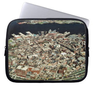 Aerial view of Boston, MA Laptop Sleeve