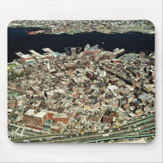 Aerial view of Boston, MA Mouse Mat