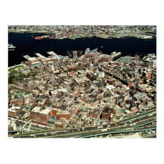 Aerial view of Boston, MA Postcard