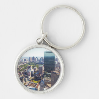 Aerial view of Boston Silver-Colored Round Key Ring