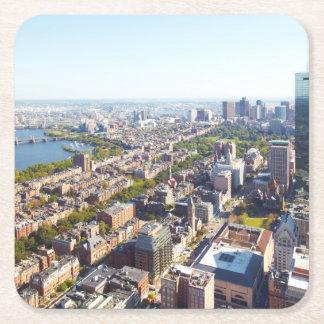 Aerial view of Boston Square Paper Coaster