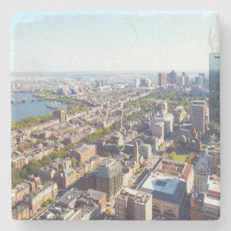 Aerial view of Boston Stone Beverage Coaster