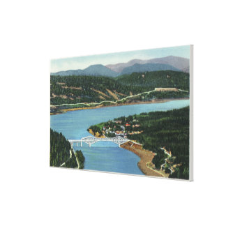 Aerial View of Bridge of the Gods Canvas Print