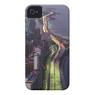 Aerial view of buildings along a highway in a Case-Mate iPhone 4 case