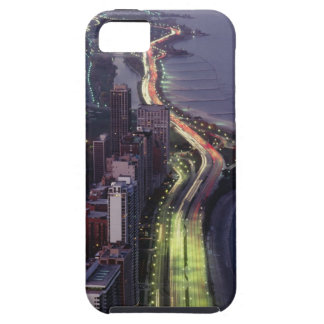 Aerial view of buildings along a highway in a tough iPhone 5 case