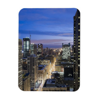 Aerial view of buildings along State Street in Rectangular Photo Magnet