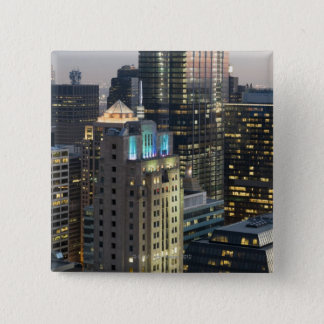 Aerial view of buildings in the Chicago Loop 15 Cm Square Badge