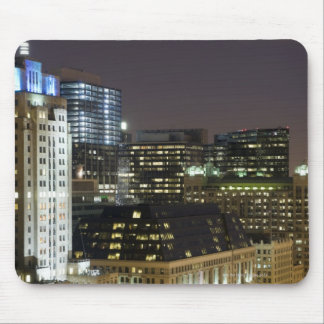 Aerial view of buildings in the Chicago Loop at Mouse Mat