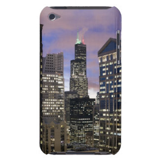 Aerial view of buildings in the Chicago Loop, Barely There iPod Cases