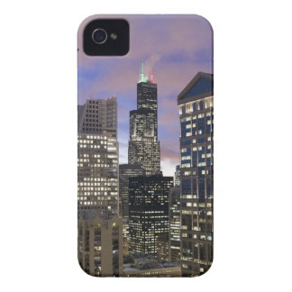 Aerial view of buildings in the Chicago Loop, Case-Mate iPhone 4 Cases