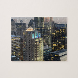 Aerial view of buildings in the Chicago Loop Jigsaw Puzzle