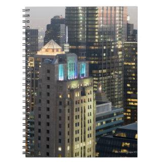 Aerial view of buildings in the Chicago Loop Note Book