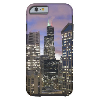Aerial view of buildings in the Chicago Loop, Tough iPhone 6 Case