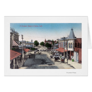 Aerial View of Business SectionSelma, CA Card