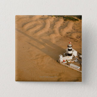 Aerial view of Cape Recife Lighthouse, Nelson 15 Cm Square Badge