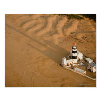 Aerial view of Cape Recife Lighthouse, Nelson Poster