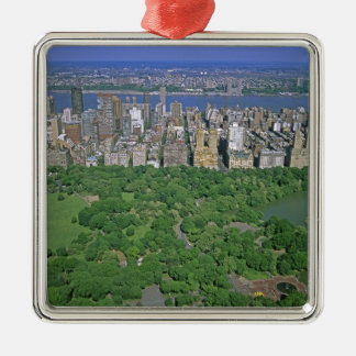 Aerial view of Central Park and the west side Christmas Ornament