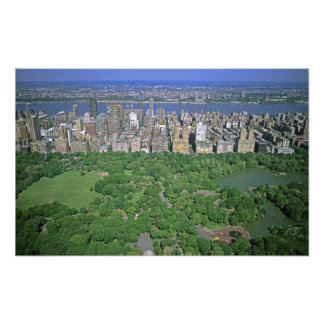 Aerial view of Central Park and the west side Photo Print