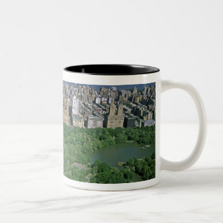 Aerial view of Central Park and the west side Two-Tone Coffee Mug