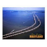 Aerial view of Chesapeake Bay Bridge, Maryland Post Cards