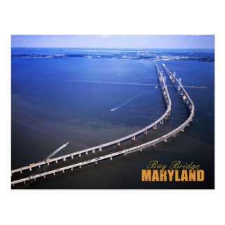 Aerial view of Chesapeake Bay Bridge, Maryland Postcard