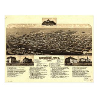 Aerial View of Cheyenne, Wyoming (1882) Postcard