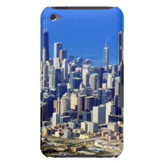 Aerial view of Chicago Downtown with Lake Barely There iPod Covers