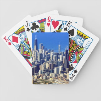 Aerial view of Chicago Downtown with Lake Bicycle Playing Cards