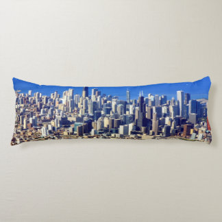 Aerial view of Chicago Downtown with Lake Body Cushion