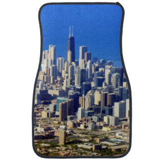 Aerial view of Chicago Downtown with Lake Car Mat