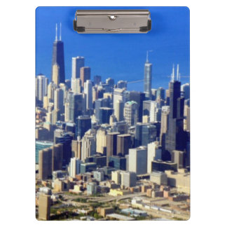 Aerial view of Chicago Downtown with Lake Clipboard