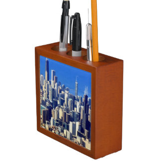 Aerial view of Chicago Downtown with Lake Desk Organiser